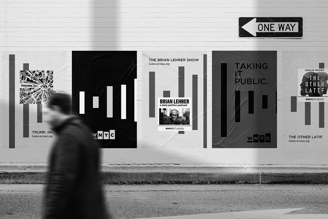 WNYC Taking It Public street poster campaign