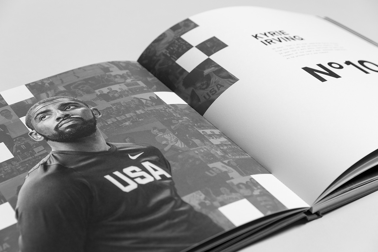 Nike USA Basketball book featuring Kyrie Irving