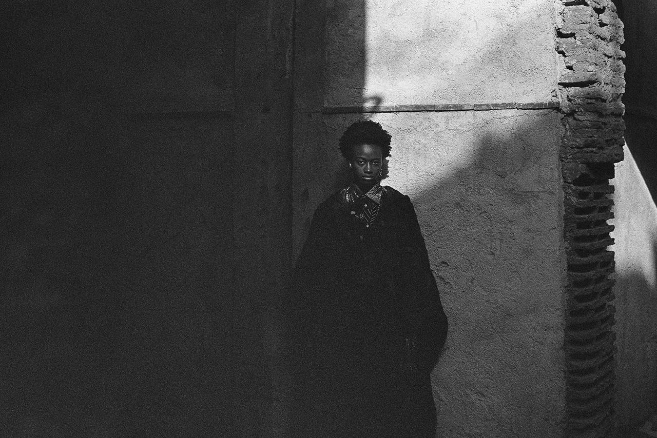 Dior fashion portrait shot in Morocco