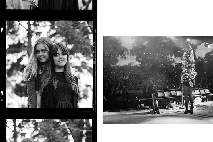 First Aid Kit portrait shot on Rolleiflex camera and live onstage at the Golden Plains music festival