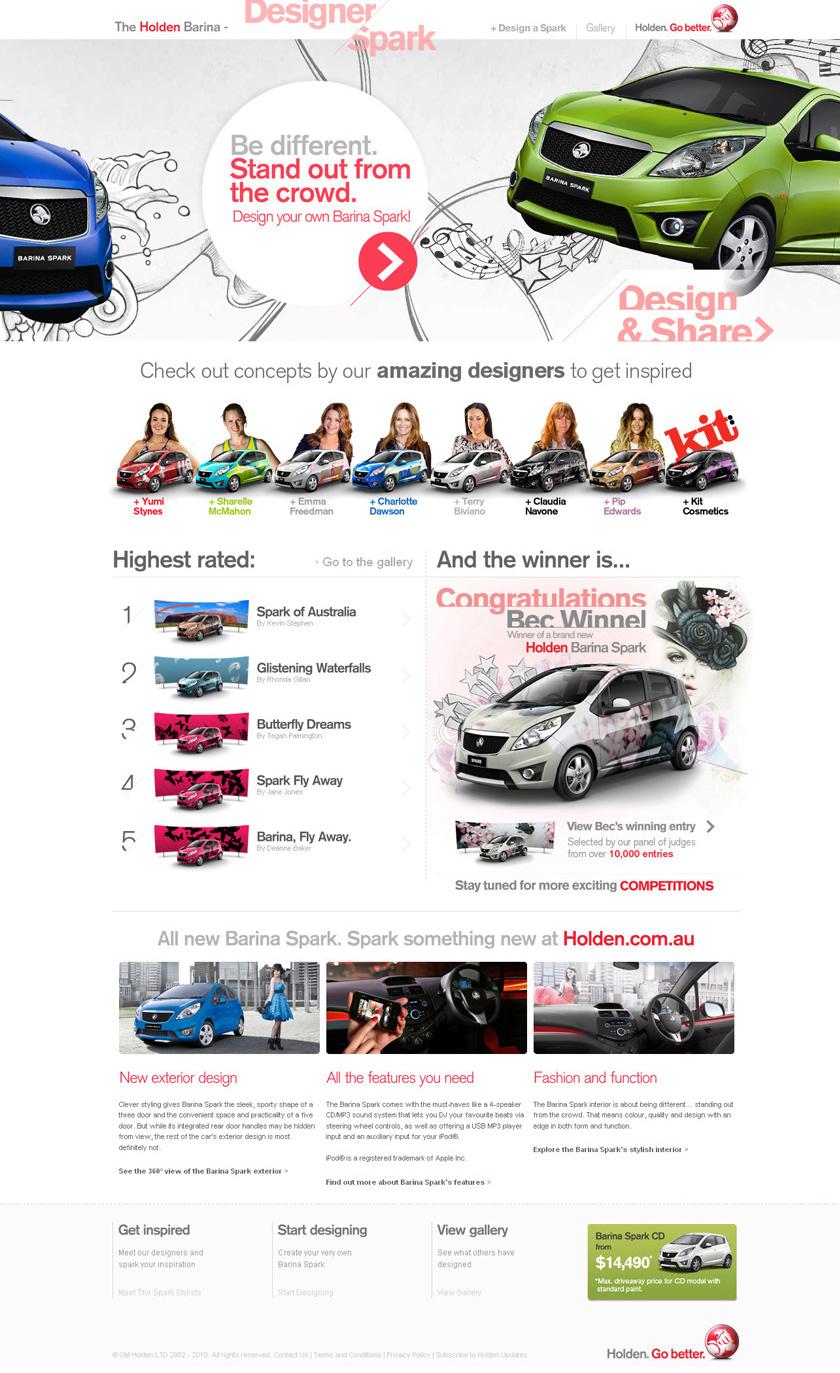 Designer Spark Homepage